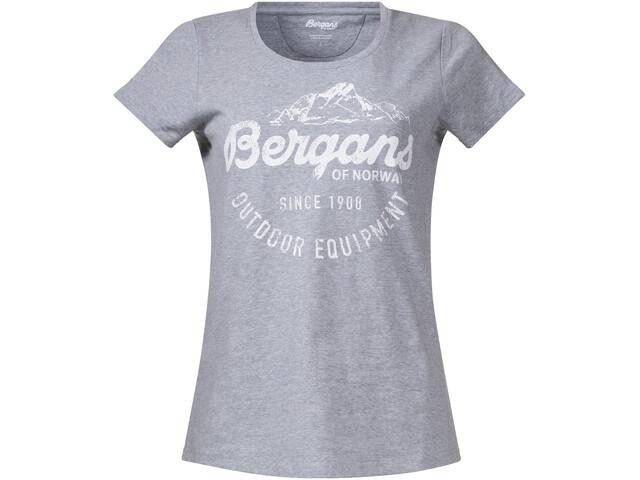 Bergans Classic T-shirt Femme, grey melange/white